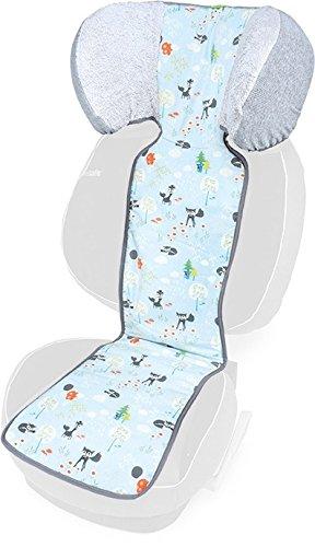 Priebes Sitzauflage Moritz für Autositz Gruppe 2-3 Sitzauflage Auto Kindersitz Baumwolle Schonbezug Auto Kindersitz Auto Schonbezug für Kindersitz universell, Design:füchse