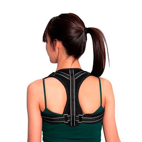 Maverick - Corrector de postura de espalda y hombros para hombre y mujer, perfecto para dolor de espalda. Corrige la postura para tener una espalda recta. Chaleco corrector para oficina y deporte.