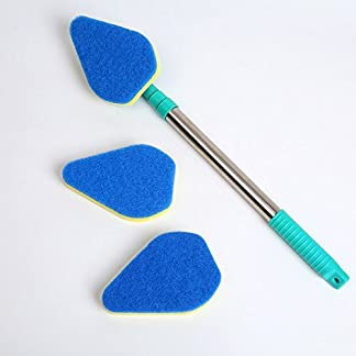 ZZH Limpiador Extensible para Azulejos con Cepillo de Vidrio