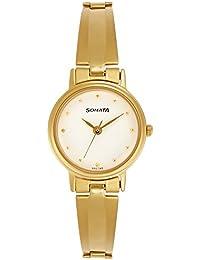 Sonata Analog White Dial Women's Watch -NM8096YM04 / NL8096YM04