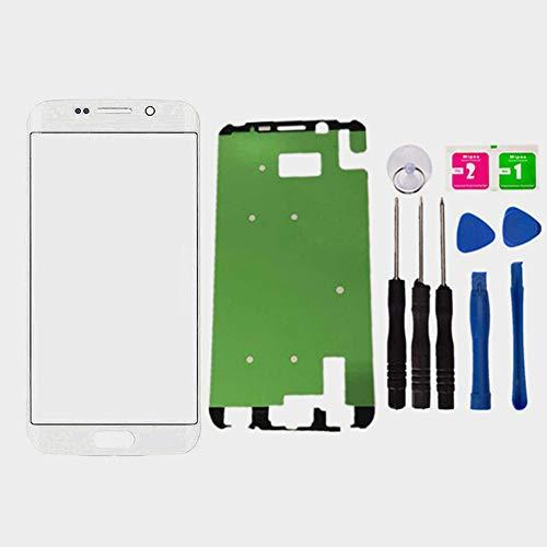 Lcd-cover-set (Ersatz Reparatur Vorne außen Oben Glas-Objektiv Cover Bildschirm für Galaxy S6Edge Plus g928F g928t G928P g928V 14,5cm Handy gewölbten Oberfläche Teile mit Selbstklebend Werkzeug-Set, weiß)