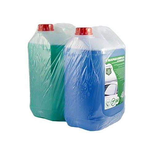 Motorkit ZMOTLIM1 Pack Anticongelante y Lavaparabrisas 10% y 5% Antimosquitos, Verde