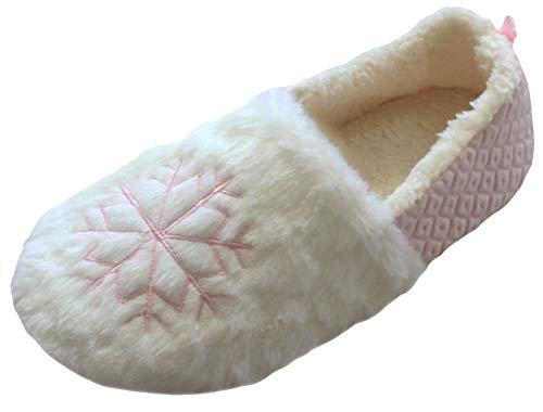 Eozy Chausson Femme Hiver Pantoufle Chaussure de Maison Peluche Souple Adulte