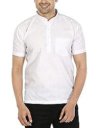 Radhey Trendz Half Sleeve Short Kurta 100% Pure Cotton for Men and Boys