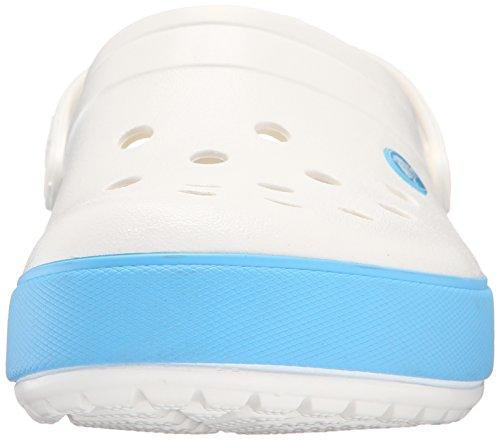 Crocs Crocband II.5 Clog, Unisex-Erwachsene Clogs, Schwarz (Black/Charcoal 070),  43/44 EU (M10/W12 US) Weiß (White/Electric Blue)