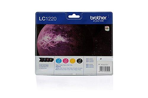 Preisvergleich Produktbild Original Tinte Brother LC-1220VALBPDR - 4x Premium Drucker-Patrone - Schwarz, Cyan, Magenta, Gelb - 1x300 & 3x260 Seiten
