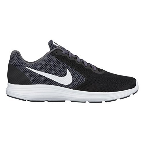 Nike Revolution 3, 819300, Herren Laufschuhe,Mehrfarbig (Black/white/dark Grey/anthracite),45 EU