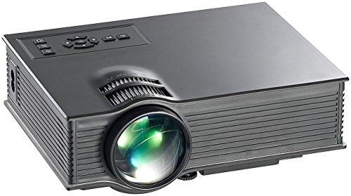 SceneLights Mini Beamer: SVGA-LCD-LED-Beamer LB-8300.mp mit Mediaplayer, 800 x 480 Pixel (Kompakt LED Beamer)