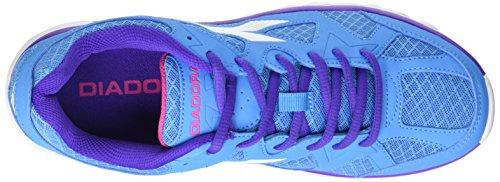 Diadora Unisex-Erwachsene Hawk 5 Gymnastik Multicolore (C5696 Blu Fluo/Bianco)
