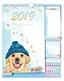 Quotidiennes de l'ordre 2018-2019 Année scolaire Agenda Calendrier de bureau pour College School Student Teacher + listes de détacher + Sticky Notes avec Event Stickers variété Lot par Plantime...
