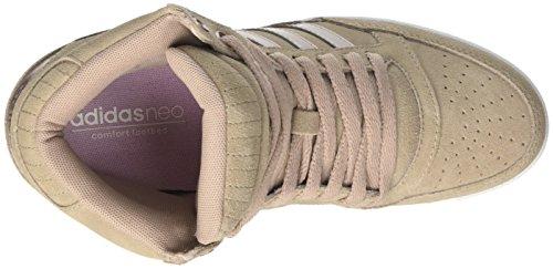 adidas Damen Super Wedge W Niedrige Sneaker Grau (Grivap/grmeva/ftwbla)