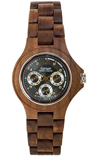 TENSE//Die Holzuhr - Mens Northwest made in Canada Walnussholz - Herren-Uhr - Holz-Uhr G4300W-GREY