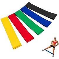 Bandas de Resistencia unisexo, de material de látex natural, para mejorar la movilidad y la fuerza (Yoga, Pilates o para la rehabilitación de lesiones)