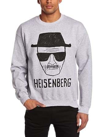 Plastic Head Men's Breaking Bad Heisenberg Sketch Csw Long Sleeve Sports Jumper, Grey, Small