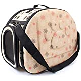 SRI Travel Pet Storage Fold Able Pet Carrier, Beige (Small)