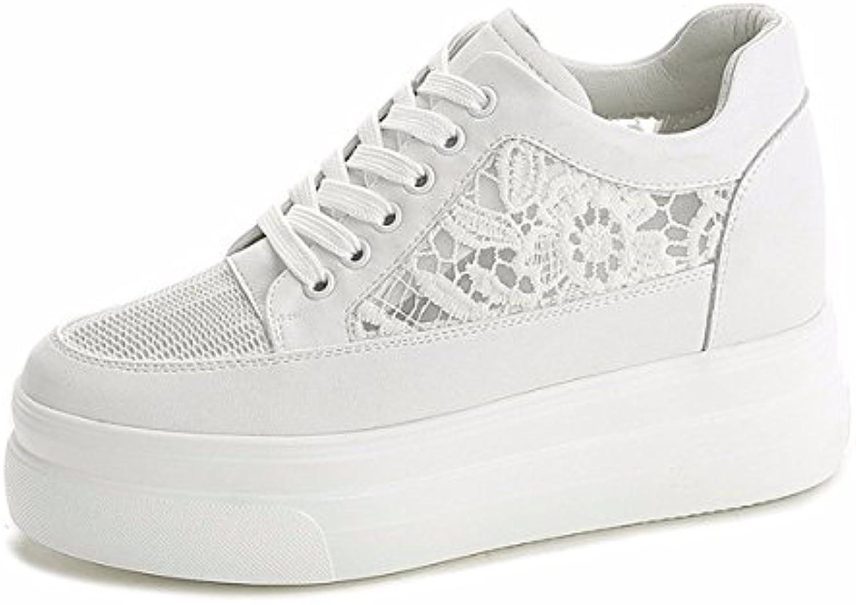 AJUNR Moda/Elegante/Transpirable/Sandalias Gasa Verano Hueco Aumenta Dentro Zapatos bromeando Ocio Finas Gruesas...