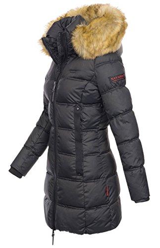 Navahoo Damen Winter Jacke Mantel Parka warm gefütterte Winterjacke Kapuze B639