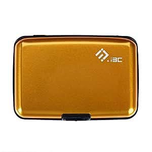 I3C Étui Carte de Crédit Blocage RFID Portefeuille Pochette en Aluminium Cadeau Saint Valentin (Orange)