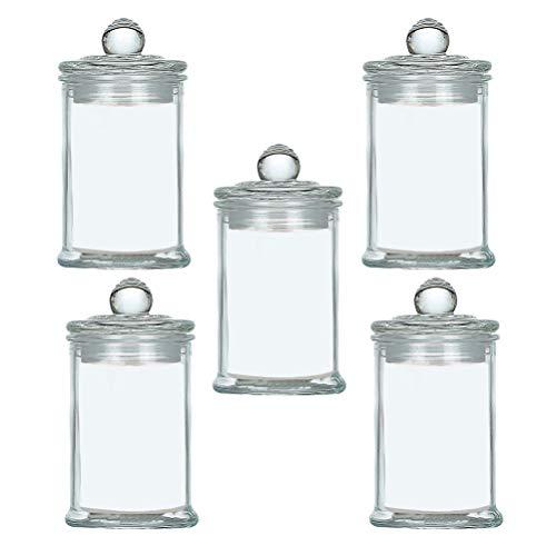 BESTONZON 5 stücke Glas mit Luftdichten Dichtungsdeckel Klar Candy Jar Lebensmittel Lagerung Kanister für Serving Tee Kaffee Gewürz Zucker Salz (Die Candy Jar)