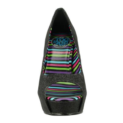 Too Fast Brand Escarpins GLITTER AND SPIKES noir Noir
