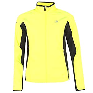 ladies reflective run jacket and safety set hi viz womens bright fluorescent yellow run jog safe autumn winter dark nights. breathable fast dry light set inc. highly visible reflective runners headband and emergency id key chain combined rrp £85.87