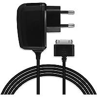 CELLONIC® Cargador - 1.5m (2A / 2000mA) para Samsung Galaxy Note 10.1 / Tab 8.9 / Tab 10.1 / Tab 2 7.0 / Tab 2 10.1 / GT-N8000 / GT-P3100 / GT-P5100 / GT-P6800 / GT-P7500 (5V / Samsung Connector (30 Pin)) Cable de carga negro
