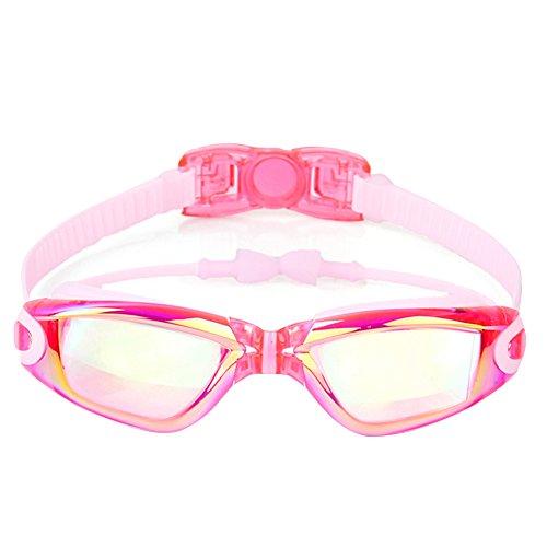 Cfpacrobatics occhiali regolabili per bambini ragazzi ragazze occhiali da nuoto impermeabili occhiali occhiali antiappannanti ad alta visibilità rosa
