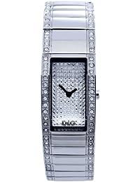 D&G Dolce&Gabbana Damen-Armbanduhr FESTIVAL SLV FAKE PAVE DIAL BRC STONES ON SIDE DW0276