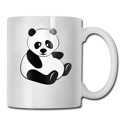 Daawqee Becher Porcelain Coffee Mug Chubby Animal Panda Ceramic Cup Tea Brewing Cups for Home Office