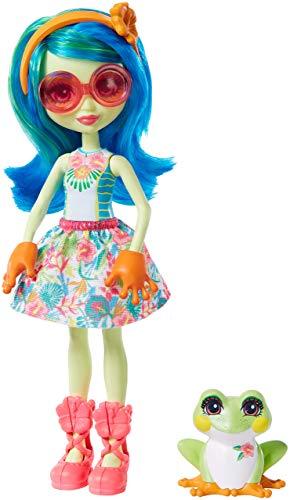 Enchantimals - Muñeca Tamika Tree Frog con Mascota Burst (Mattel GFN43)