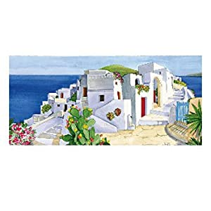 Renkalik renkalikqsito025t 23x 50cm Blanco Casas Seda impresión Hoja de Papel de Toalla (Juego de)