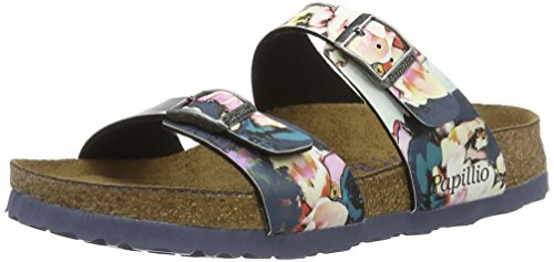 birkenstock-sydney-birko-flor-softfootbed-mules-femme-multicolore-mehrfarbig-painted-bloom-navy-37