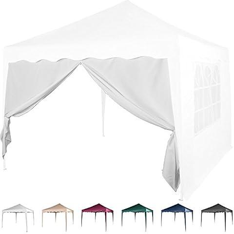 Seitenwand für Pavillon 3x3m, mit Reißverschluss, Farbwahl Weiß Champagner Blau Grün Burgund Rot Anthrazit Schwarz, wasserabweisend, Seitenteil, Gartenzelt, Festzelt,