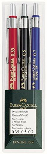 Faber-Castell – Juego de 3 portaminas de 0.35, 0.5 y 0.7mm