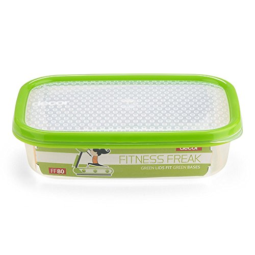 Décor Plastic Rectangular shaped, BPA-free, Multipurpose and Air tight Food Storage Container, 800 ml (Green)