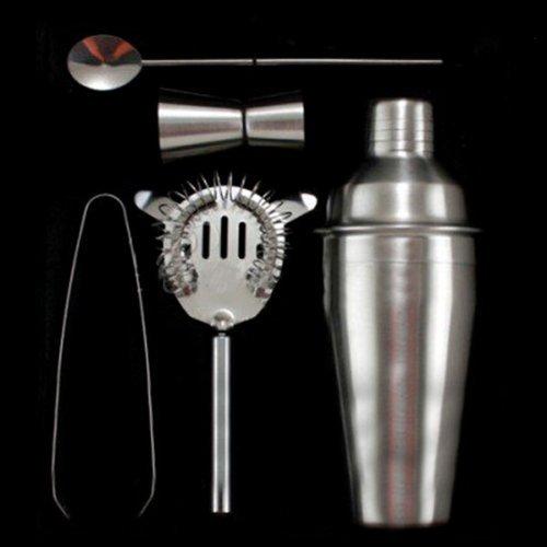 Preisvergleich Produktbild Water & Wood 5 Piece 550ml Cocktail Shaker Mixer Bar Bartender set without Retail Box