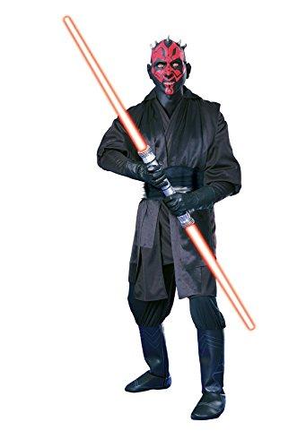 Super Deluxe Darth Maul 'Star Wars' Kostüm für Herren Gr. M u. L, (Darth Maul Star Erwachsene Kostüme Wars Deluxe)