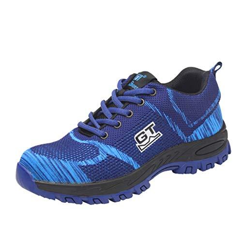 Yearnly Sicherheitsschuhe Damen Herren Arbeitsschuhe, Leicht Stahlkappe Schuhe Reflektierend Sicherheitsstiefel Atmungsaktiv Industrie Schuhe Sicherheitssneaker