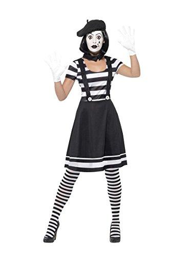 Smiffys Damen Kostüm Pantomime Clownin Karneval Fasching Gr.L