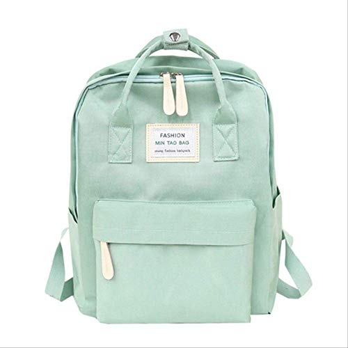 Borsa Wbdd Zoipper Zaino Ragazza Tempo Libero Grande Capacità Borsa Donne Fashion Travel Backpack 15 pollici verde
