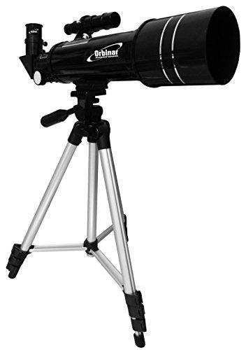 Orbinar Reise Teleskop Spektiv 400/70 inkl. Vollausstattung und Rucksack + Smartphone Adapter DKA5 - 5