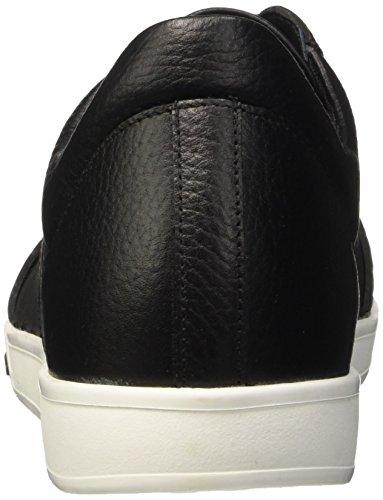 Bikkembergs Olimpian 291 L.Shoe M Leather/Lycra, Pompes à Plateforme Plate Homme Noir (Black/Origami Effect)