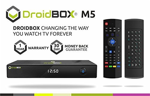 DroidBOX M5 Android TV Set Top Box with VIP mini keyboard based on KitKat 4.4.2 - Quad Core CPU 8GB ROM - Kodi 15.1 Isengard - Airplay, DLNA, Miracast