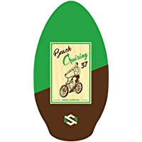 Skim One Wood Skimboard, Verde (Beach Cruising/Marrón), 37""