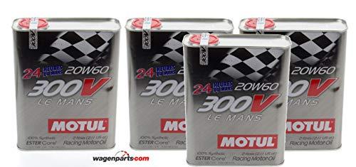 Motul Olio Motore Competizione 300V Le Mans Racing Motor 20W-60, Pack 8 Lit