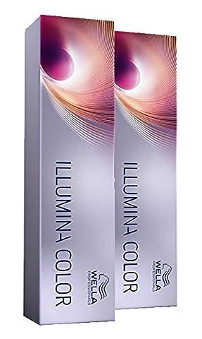 Wella 2x Illumina Color 7/81 Mittelblond Perl-Asch 60 Ml