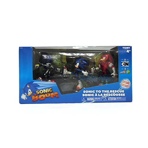 Image of Sonic the Hedgehog Boom 3-Inch Diorama/Knuckles/Eggman and Tether Figure