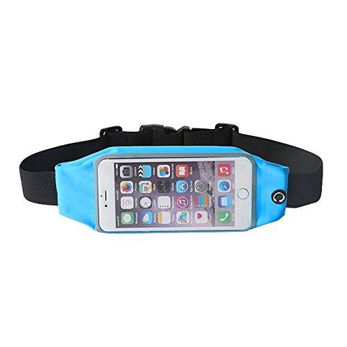 Theoutlettablet® Cinturón - Riñonera deportivo para running - correr - impermeable al sudor y Reflectante con bolsillo para transporte Smartphone Yu Yutopia COLOR AZUL (S)