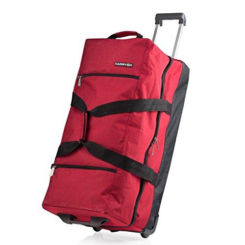 CARRYon DAILY XL Doppel Rollenreisetasche mit praktischem Packsystem (Rot)