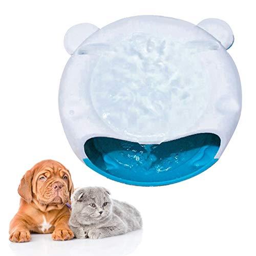 Yunso Haustier Trinkbrunnen Haustier-Wasser-Brunnen,Super leise automatische elektrische Wasserschale für Hunde, Katzen, Vögel und kleine Tiere (Schwarz+Weiß) - Brunnen Hund Wasserschale